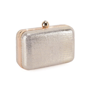 Hardcase Silver Clutch