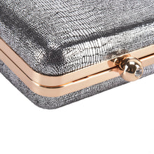 Load image into Gallery viewer, Hardcase Dark Silver Clutch
