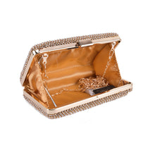 Load image into Gallery viewer, Gold Crystal Clutch
