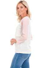 Load image into Gallery viewer, Pink Baseball Maternity & Breastfeeding Top