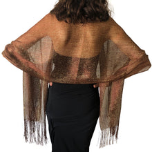 Load image into Gallery viewer, Brown Shimmer Shawl