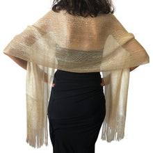 Load image into Gallery viewer, Champagne Gold Shimmer Shawl