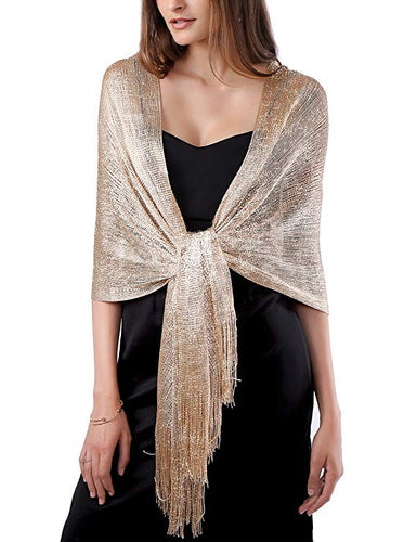 Champagne Gold Shimmer Shawl