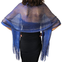 Load image into Gallery viewer, Cobalt Blue Shimmer Shawl