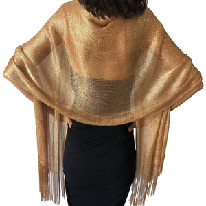 Copper Gold Shimmer Shawl