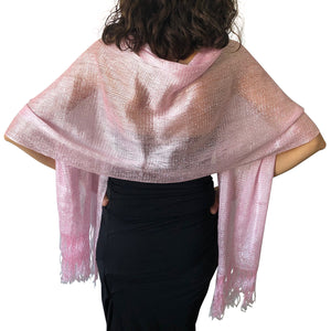 Light Pink Shimmer Shawl