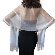 Load image into Gallery viewer, Light Silver Shimmer Shawl