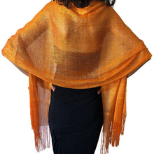 Load image into Gallery viewer, Orange Shimmer Shawl