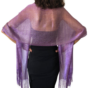 Purple Shimmer Shawl