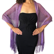 Load image into Gallery viewer, Purple Shimmer Shawl