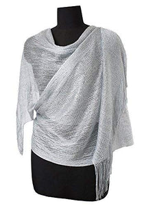Light Silver Shimmer Shawl