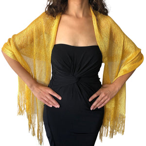 Yellow Gold Shimmer Shawl