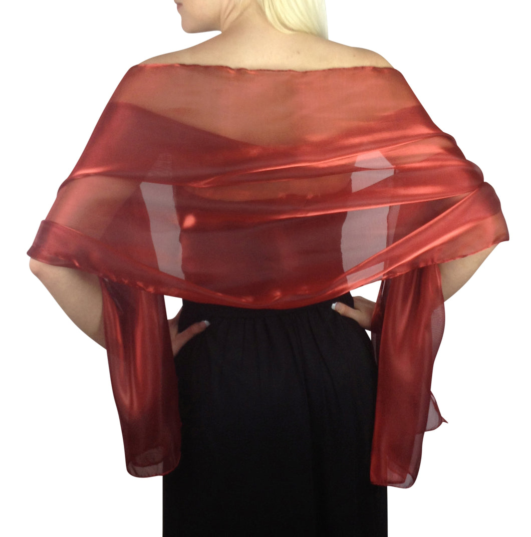 Deep Red Silky Wedding Wrap