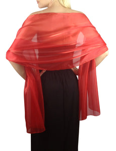 Scarlet Red Silky Wedding Wrap
