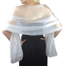Load image into Gallery viewer, White Silky Wedding Wrap