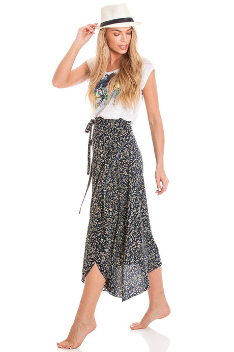 2-in-1 Sarong Skirt & Dress - Floral