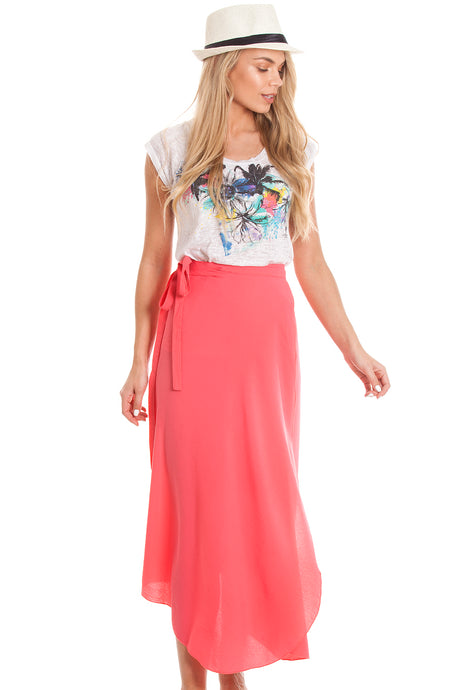 2-in-1 Sarong Skirt & Dress - Pink
