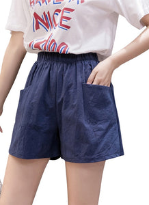 Womens Blue Shorts