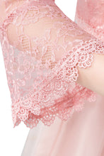 Load image into Gallery viewer, Dusky Pink Lace Open Cardigan