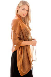 Brown Silky Wedding Wrap