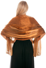 Load image into Gallery viewer, Brown Silky Wedding Wrap