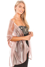 Load image into Gallery viewer, Dusky Pink Silky Wedding Wrap