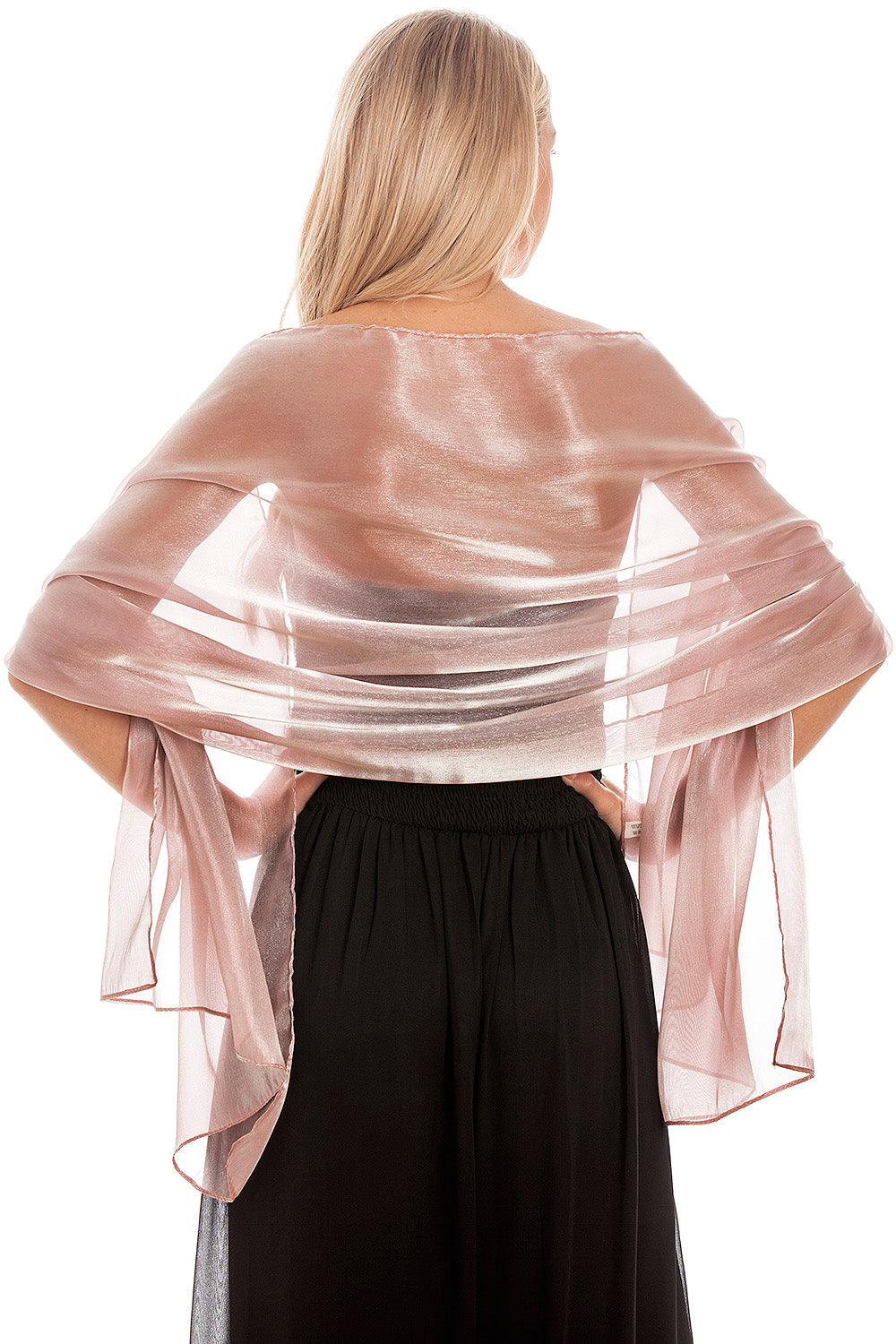 944ab248e36d6 ... Load image into Gallery viewer, Dusky Pink Silky Wedding Wrap