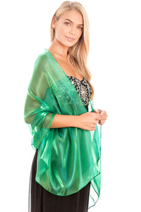 Emerald Green Silky Wedding Wrap