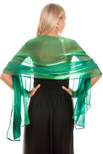 Load image into Gallery viewer, Emerald Green Silky Wedding Wrap