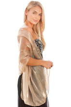 Load image into Gallery viewer, Golden Taupe Silky Wedding Wrap