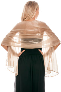 Golden Taupe Silky Wedding Wrap