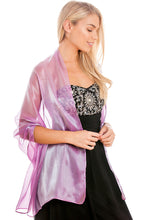 Load image into Gallery viewer, Lilac Silky Wedding Wrap