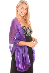 Purple Silky Wedding Wrap
