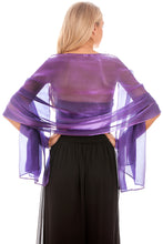 Load image into Gallery viewer, Purple Silky Wedding Wrap