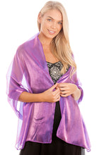 Load image into Gallery viewer, Royal Purple Silky Wedding Wrap