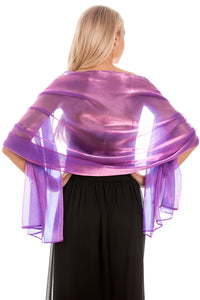 Royal Purple Silky Wedding Wrap