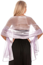 Load image into Gallery viewer, Silver Blue Silky Wedding Wrap