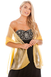 Yellow Gold Silky Wedding Wrap