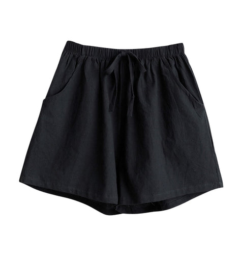 Womens Loose Fit Black Shorts