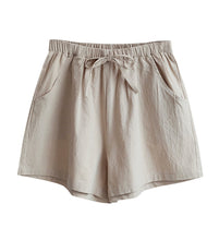 Load image into Gallery viewer, Womens Loose Fit Beige Shorts
