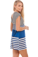 Load image into Gallery viewer, Striped Beach Dress S-M