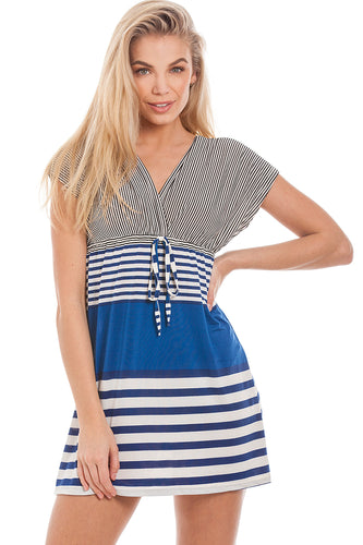 Striped Beach Dress S-M