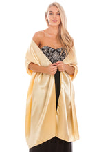 Load image into Gallery viewer, Gold Satin Wedding Wrap
