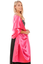 Load image into Gallery viewer, Hot Pink Satin Wedding Wrap