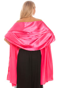 Hot Pink Satin Wedding Wrap