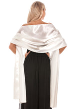 Load image into Gallery viewer, Ivory Satin Wedding Wrap