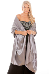 Silver Satin Wedding Wrap
