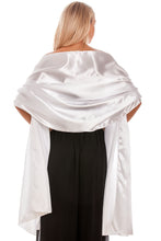 Load image into Gallery viewer, White Satin Wedding Wrap