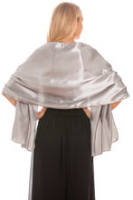 Load image into Gallery viewer, Silver Satin Wedding Wrap