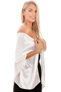 White Satin Wedding Wrap
